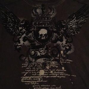 🆕🔥NWT Modern Culture Skull T w/ black velvet